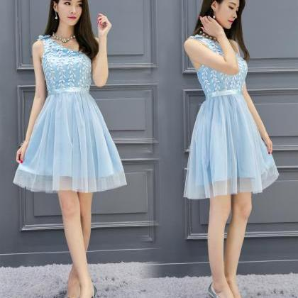 Women Sweet Strapless Organza Princ..