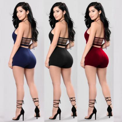 Women Sexy Halter Backless Bandage ..