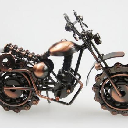 Motorcycle Home Decoration Iron Cra..