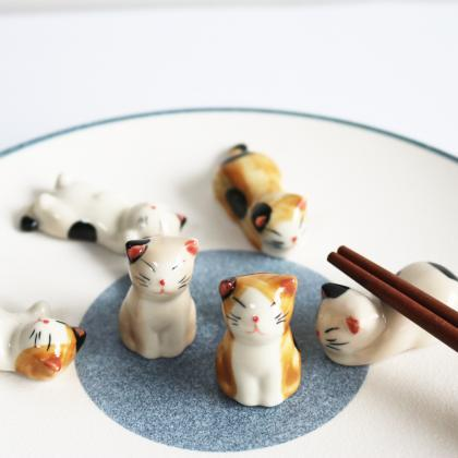 Cute Cat Ceramics Chopsticks Care C..