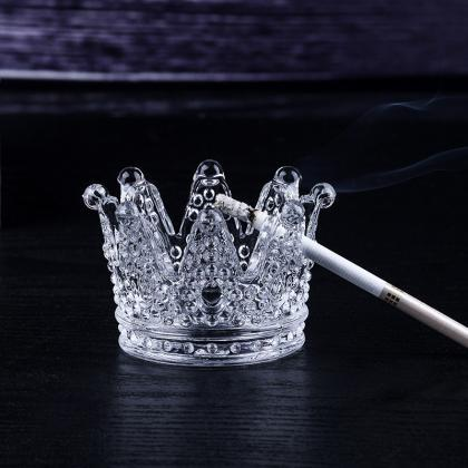 Crystal Crown Ashtray Creative Home..