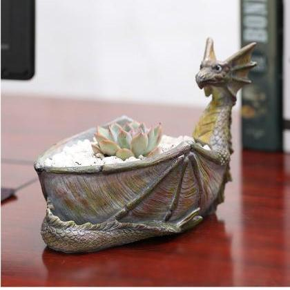 Creative Dragon Shaped Flower Pots ..