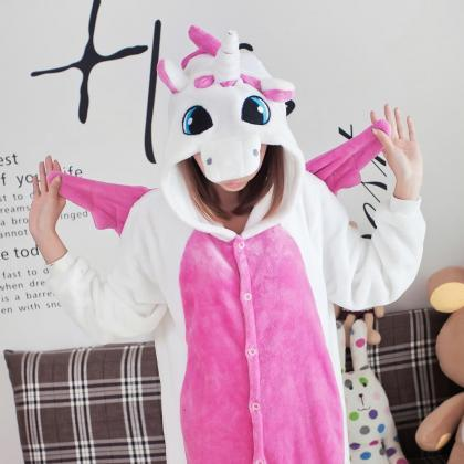 Pink and White Unicorn Onesie