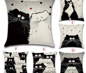 Cartoon Cat Pillow C..