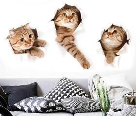 Creative 3D Cat Wall..