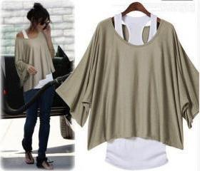 Bat Sleeve Loose Fas..