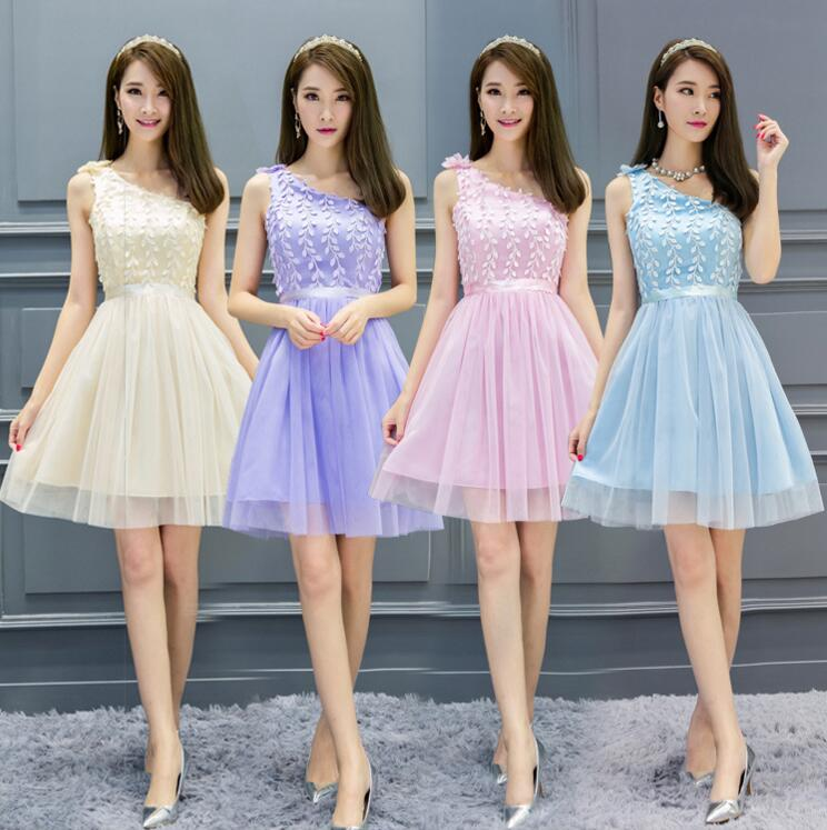 Women Sweet Strapless Organza Princess Dress Dinner Dress Wedding Bridesmaid Dress