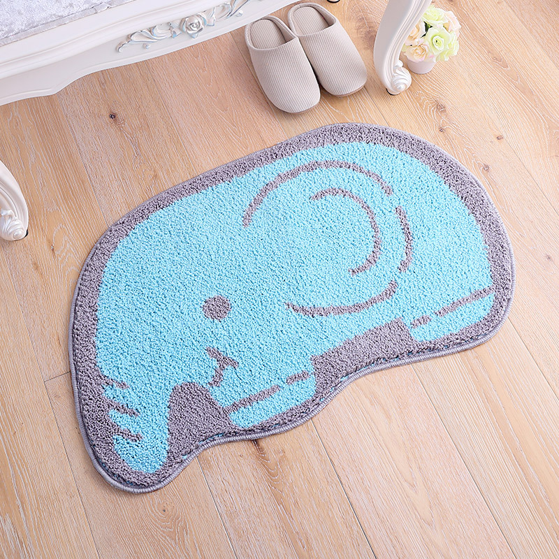 Funny Elephant Non Slip Large Bathroom Mat Cartoon Animal Sheep Bath Rug  For Children Kids Bedroom Horse Living Room Carpet