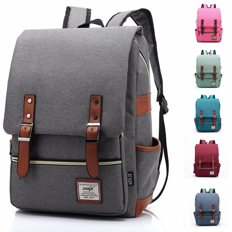 0f663e5b40 Fashion Men Women Unisex Vintage Casual Canvas Backpack Lovers Travel Bags  Satchel School Bags