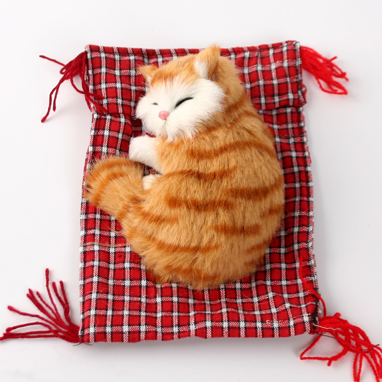 Cute Simulation Cat Decoration Animal Model Cute Gift