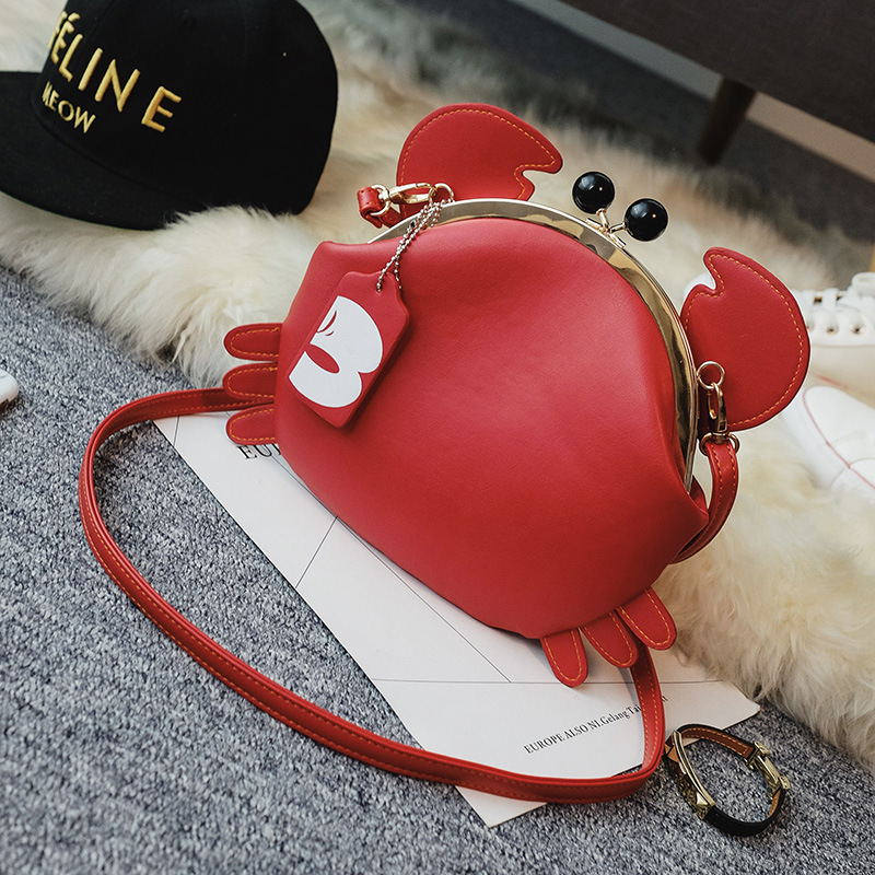 Lovely Crab Package Cartoon Animal Messenger Bag Phone Bags
