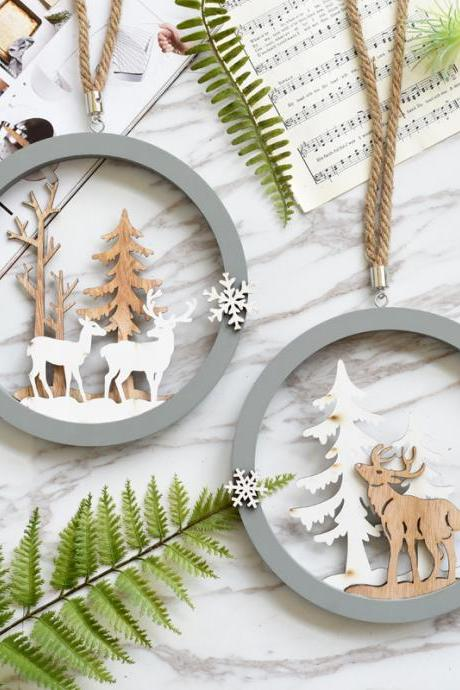 Creative Elk Wall Hangings Christmas Door Wall Hangings Home Decoration