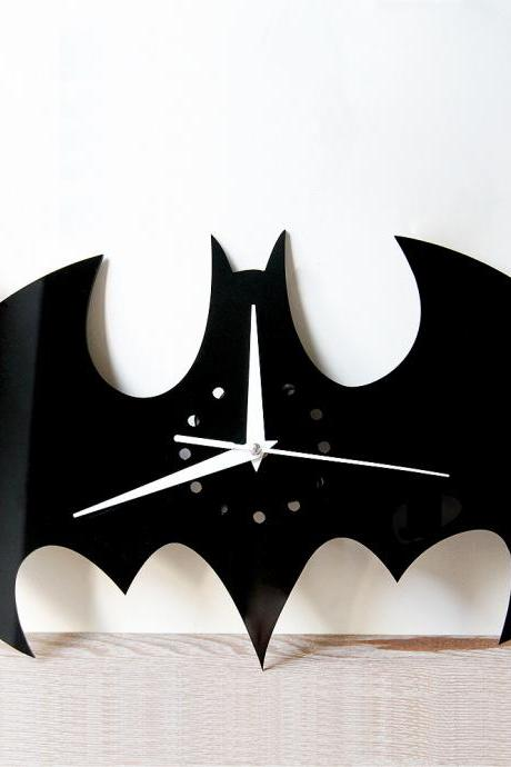 Creative Batman Wall Clock DIY Wall Stickers Home Wall Decorations Wall Clock