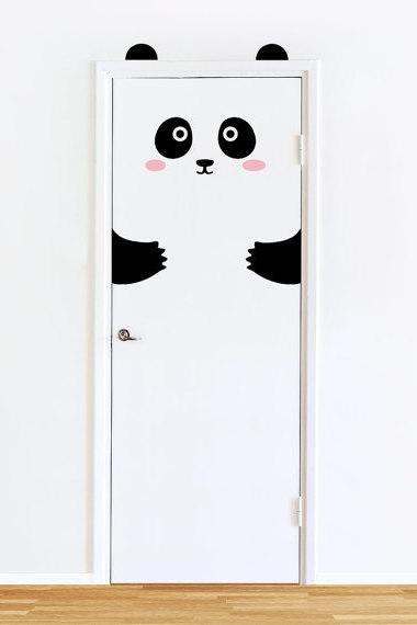 Cartoon Panda Kindergarten Children's room Decorative Sticker Bedroom Waterproof Removable Wall Sticker