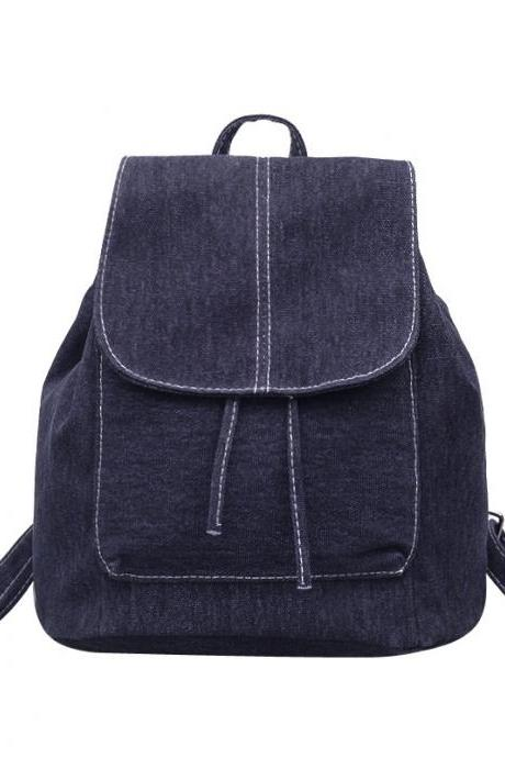Unisex Fashion Denim Backpack Retro Student Backpack Casual Travel Backpack