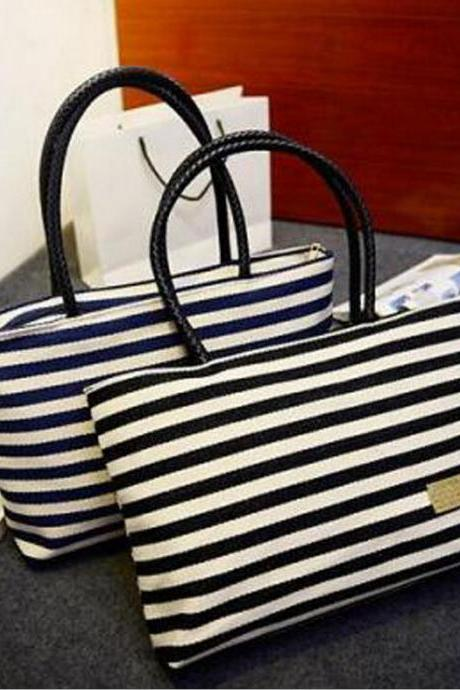 Women Navy Wind Leisure Canvas Shoulder Bag Handbag Messenger Bag