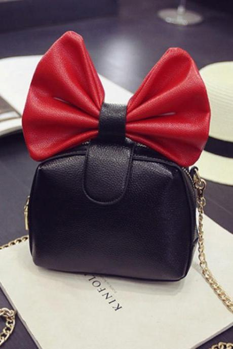 Sweet Lovely Bow Shoulder Chain Bag Messenger Small Bag