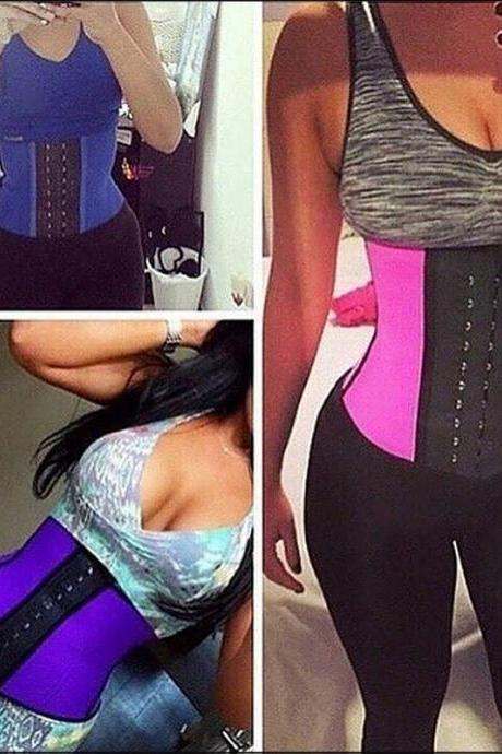 Women's Fashion Steel Boned Waist Shaper Waist Training Corset Sport Bustier Sexy Slimming Bodysuit Corselet