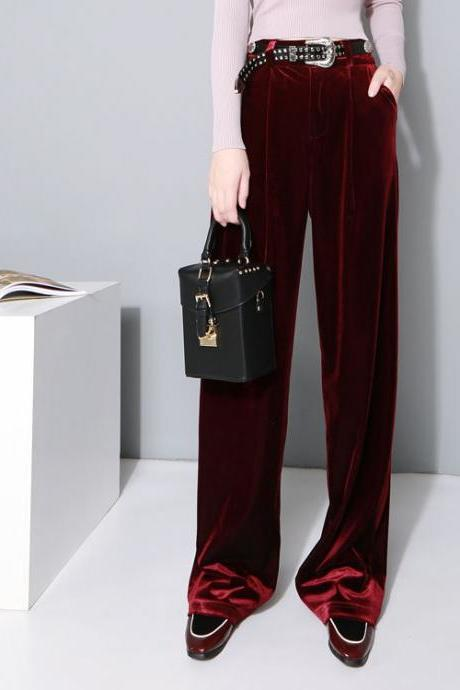 Velvet High Rise Wide Leg Pants