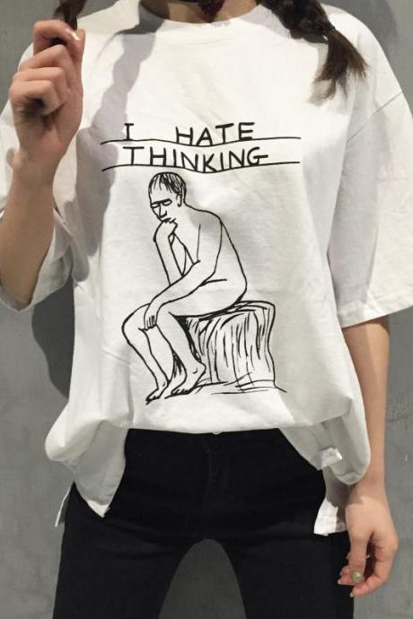 I Hate Thinking Graphic Tee