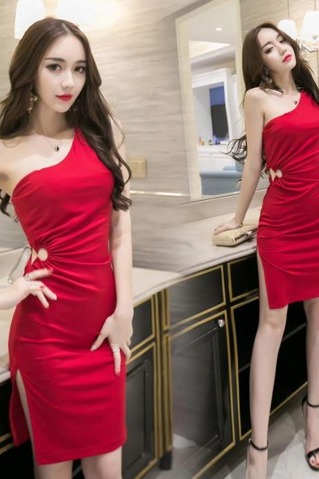 Red Sexy Backless Dress Bodycon Nightclub Party Dress
