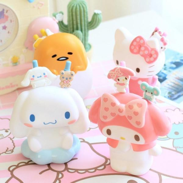 Hello Kitty Pen Holder Cute My Melody Brush Pot Creative Cartoon Animation Home Decoration Cinnamoroll Pen Holder
